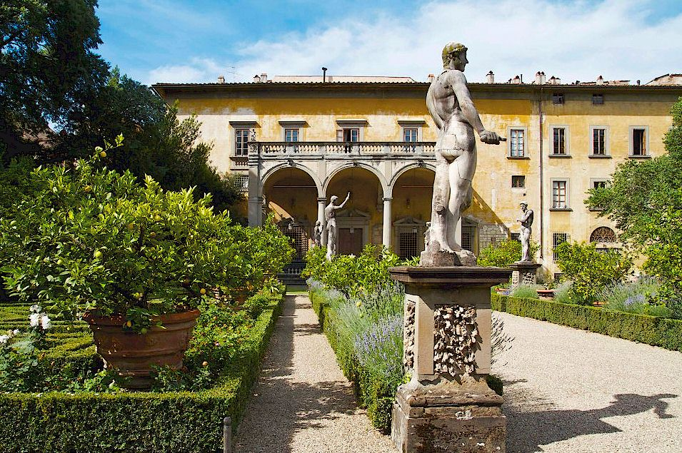 palazzo corsini and its garden in florence