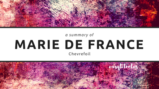 summary of marie de france's chevrefoil