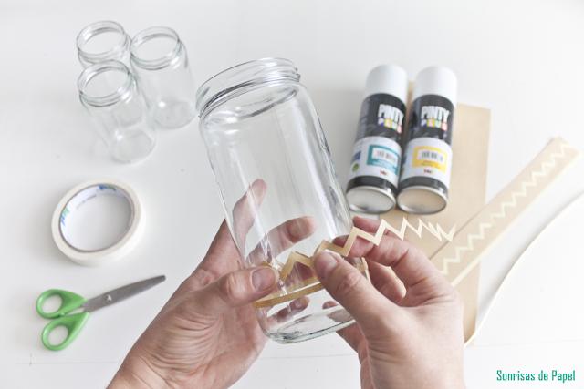 diy tarros reciclados tutorial