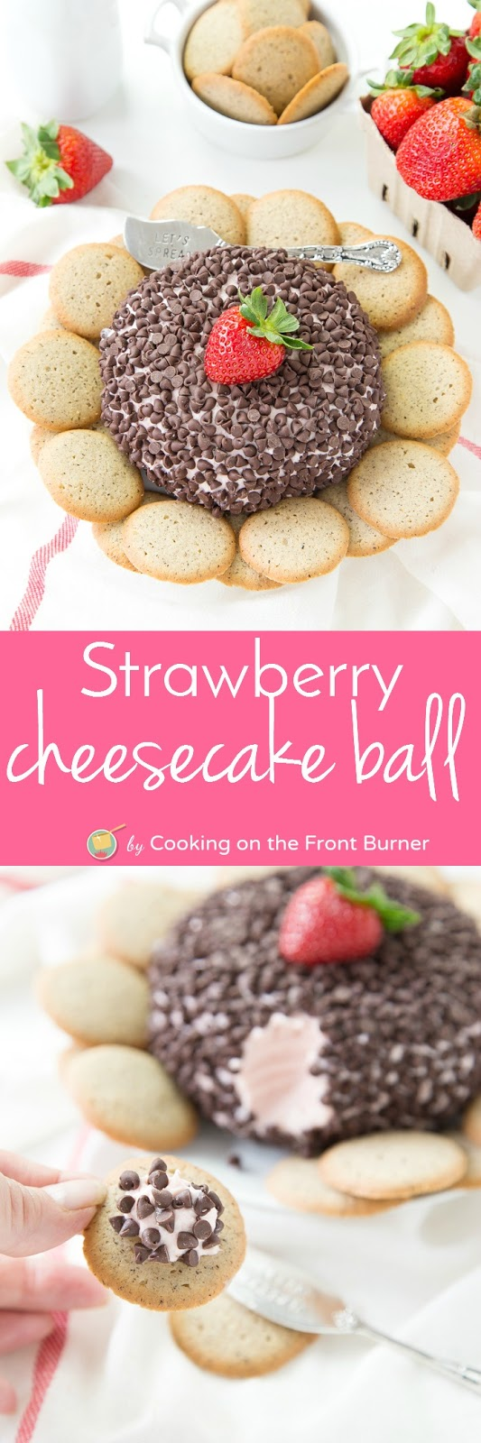 Strawberry Cheesecake Ball Dessert | Cooking on the Front Burner