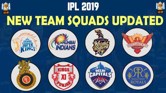 VIVO IPL 2019 Squads: IPL 2019 Teams