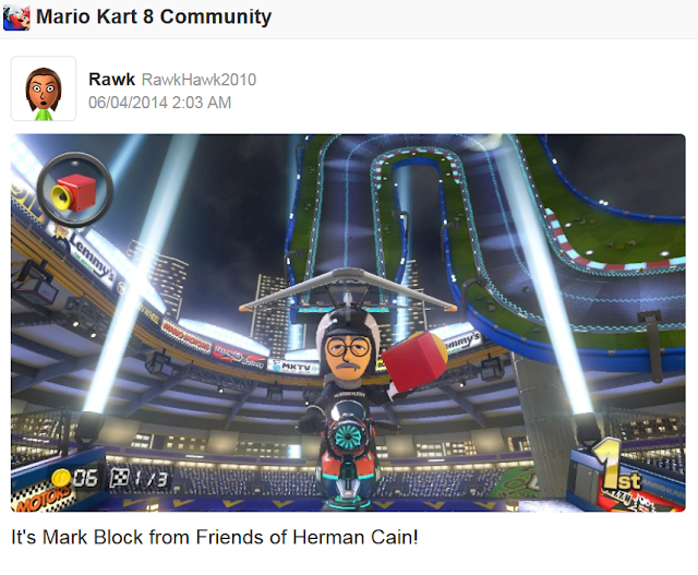 Mark Block Mario Kart 8 Mii friends of Herman Cain