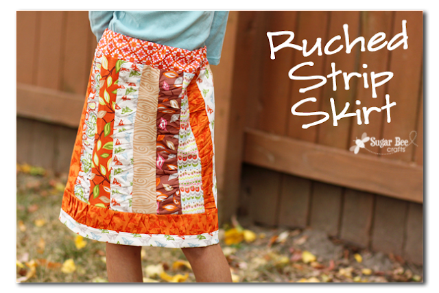 Ruched Strip Skirt for fall