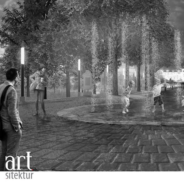 The One with Alun-alun Bojonegoro ruang publik desain artsitektur