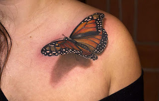tato 3d hewan kupu kupu