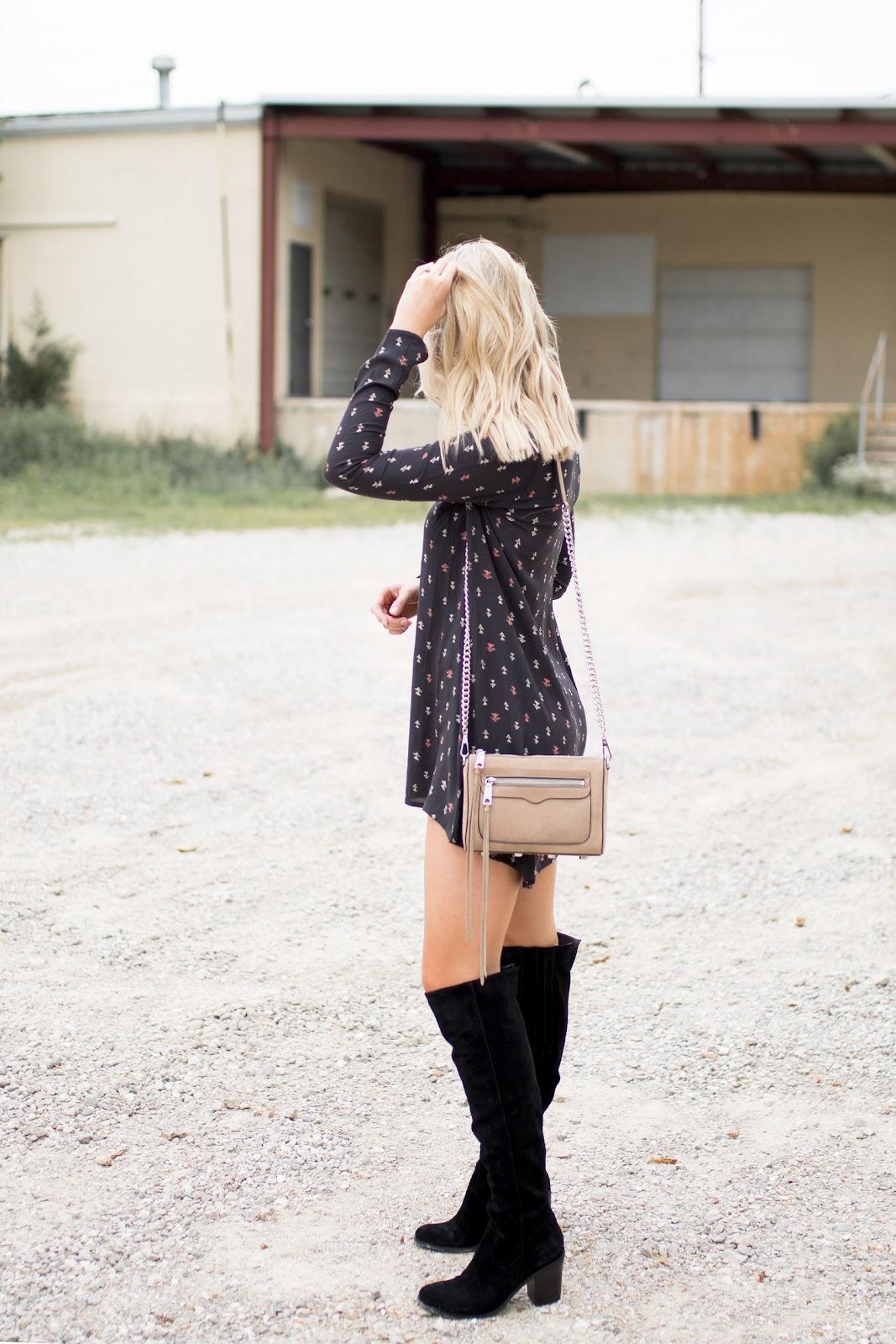 Dress + tall boots