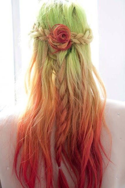 colorful  playful hairstyles