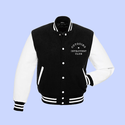 outgoing introvert club varsity jacket
