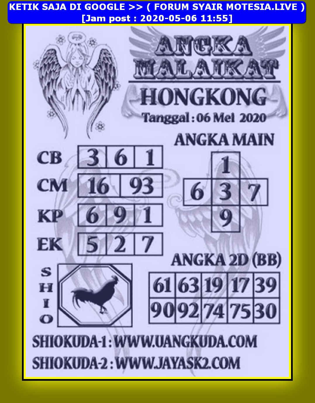 Kode syair Hongkong Rabu 6 Mei 2020 200