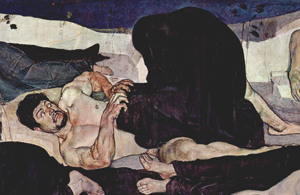 Ferdinand Hodler, Macabre Art, Macabre Paintings, Horror Paintings, Freak Art, Freak Paintings, Horror Picture, Terror Pictures