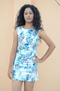 Actress Priyankha Stills in Floral Short Dress at Golmal Gullu Movie Pressmeet 0198.JPG