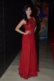 Anisha Ambrose Latest Stills in Red Long Dress at Run Movie Audio Launch ~ Celebs Next