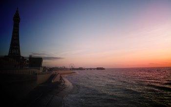 Wallpaper: Blackpool Promenade Sunset