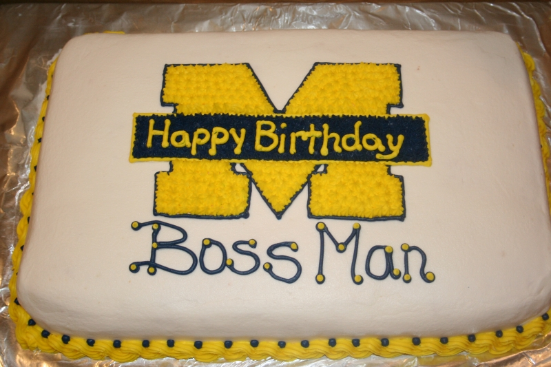happy birthday cake for boss