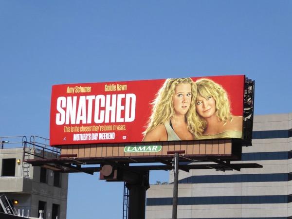 Amy Schumer Goldie Hawn Snatched billboard