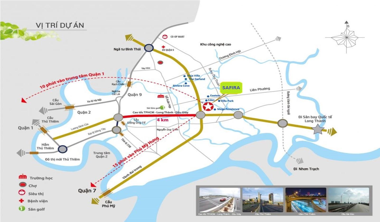 Vị Trí Dự Án Safira Khang Điền Quận 9