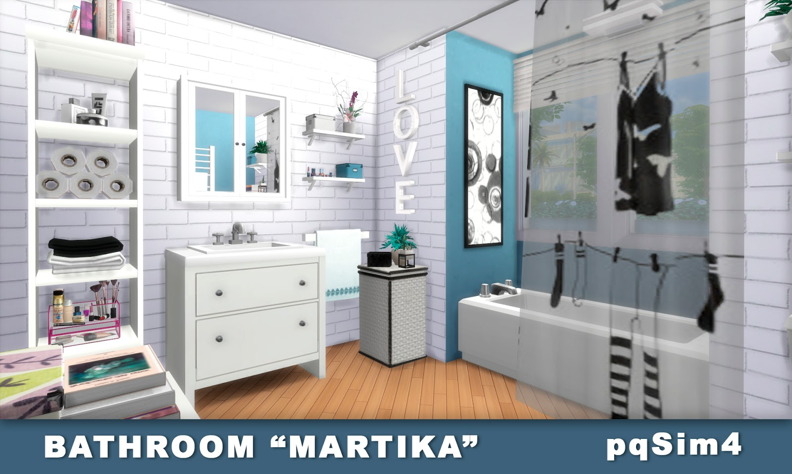 "sims 4 cc's - the best: bathroom ""martika"" by pqsim4, Badezimmer ideen"