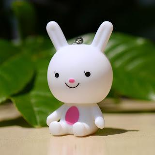 Sitting Bunny Pendant Keychain Cute Keychain Accessories Gift