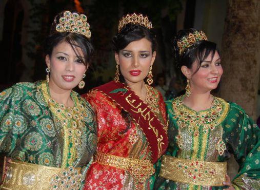 La Reina de las Cerezas en el Festival de la Cerezas en Sefrou (Marruecos)