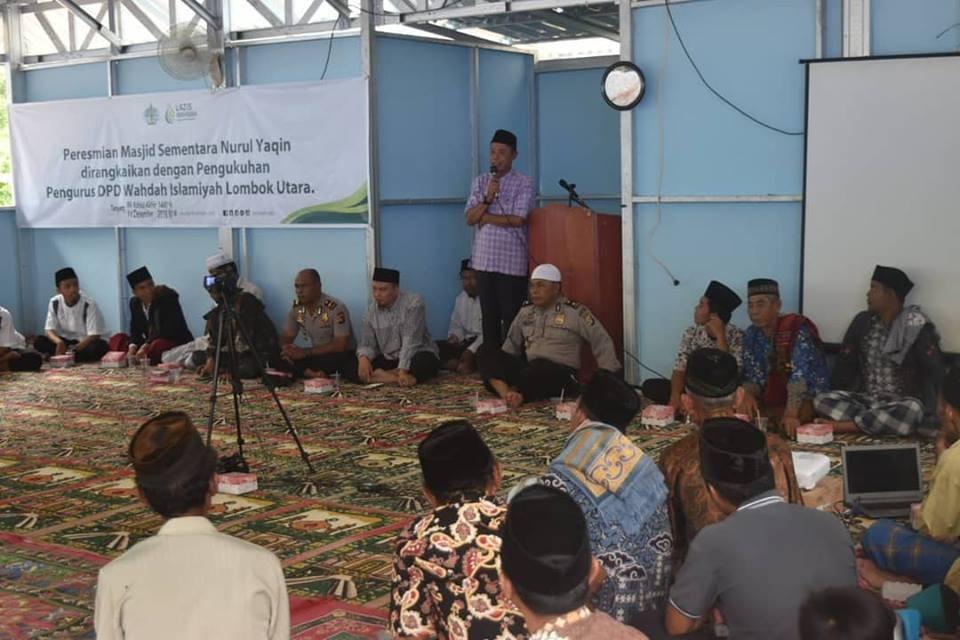 Dua Masjid LAZIS Wahdah Diresmikan di Lombok Utara