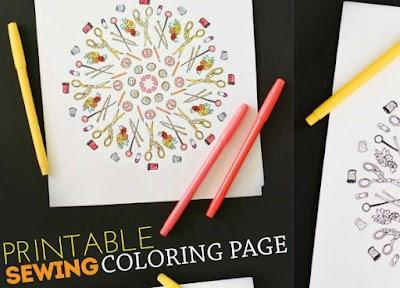 Mandala creativo de costura imprimir y pintar
