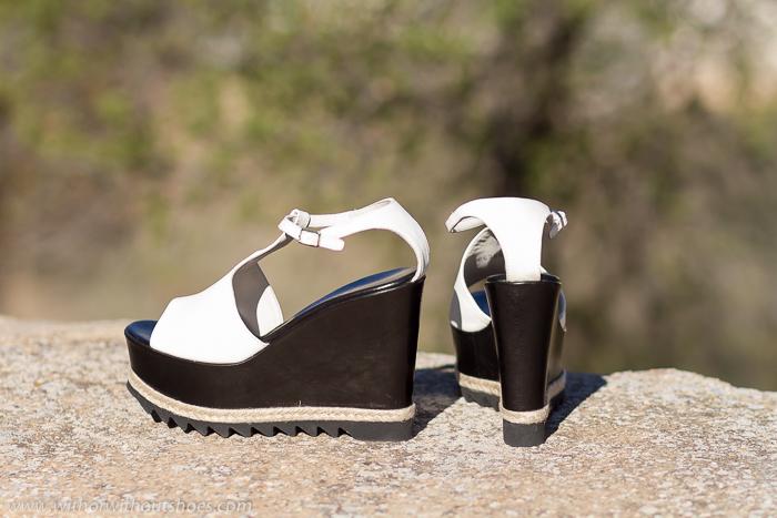 Zapatos recomendados look verano comodo chic plataforma