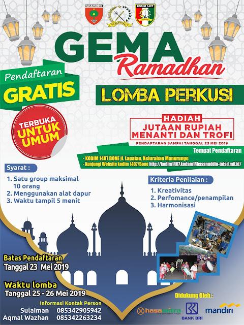 Begini Cara Kodim 1407/Bone Ramaikan Suasana Bulan Ramadhan