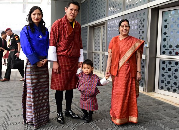 King Khesar Namgyal Wangchuck, his wife Queen Jetsun Pema and their son Prince Jigme Namgyel Wangchuck