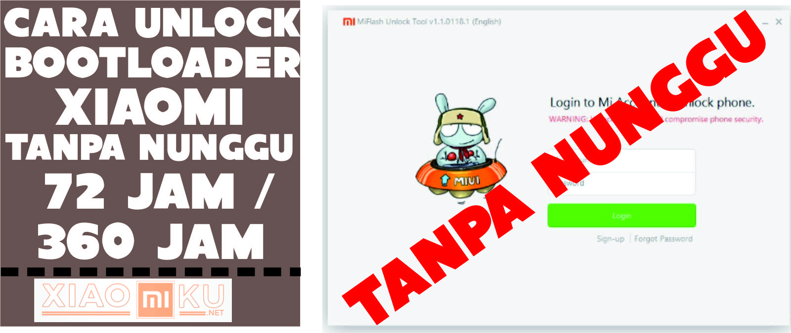 Cara Unlock Bootloader Xiaomi Tanpa Menunggu 72 Jam / 360 Jam - Miuiku