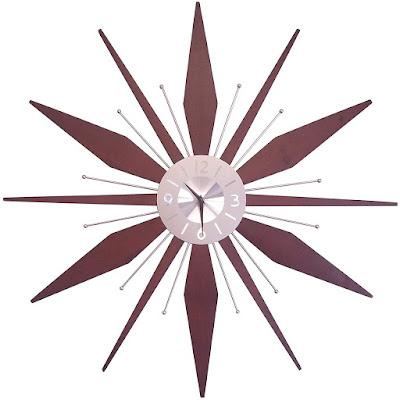 midcentury wall clock mcm mid-century