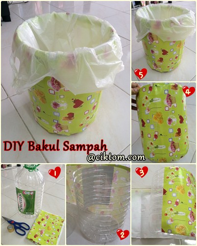 Projek DIY Bakul Sampah Simple Jer