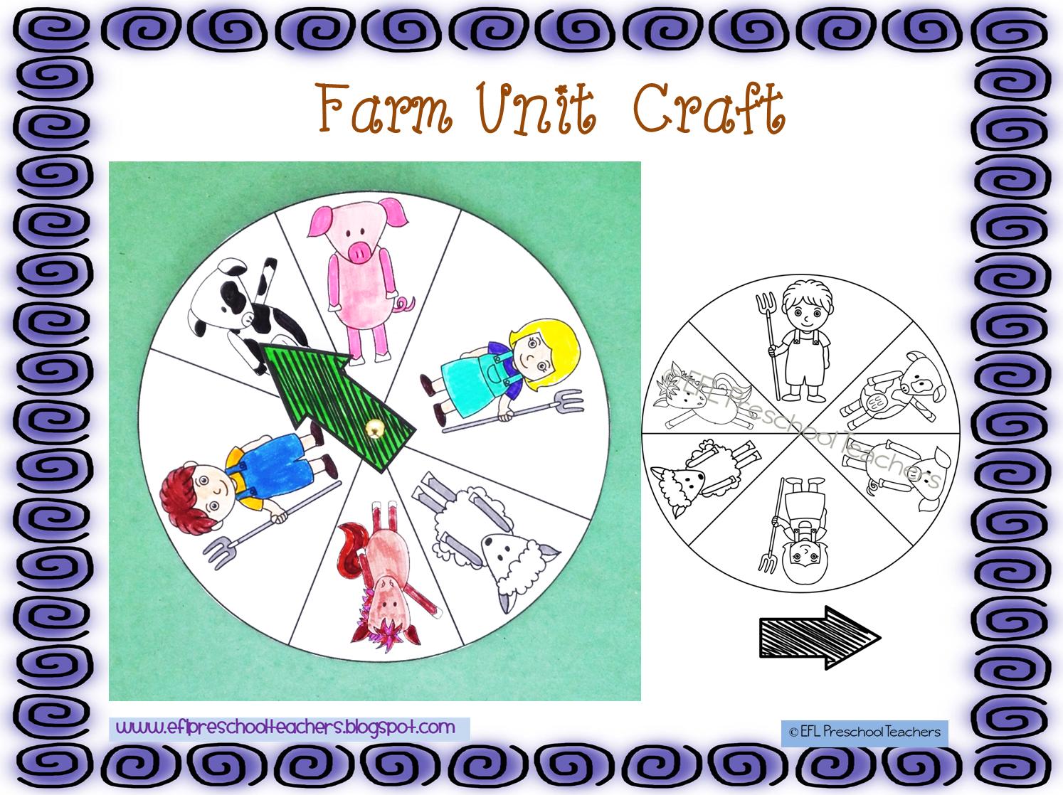 Esl Efl Preschool Teachers Farm Animals Theme For