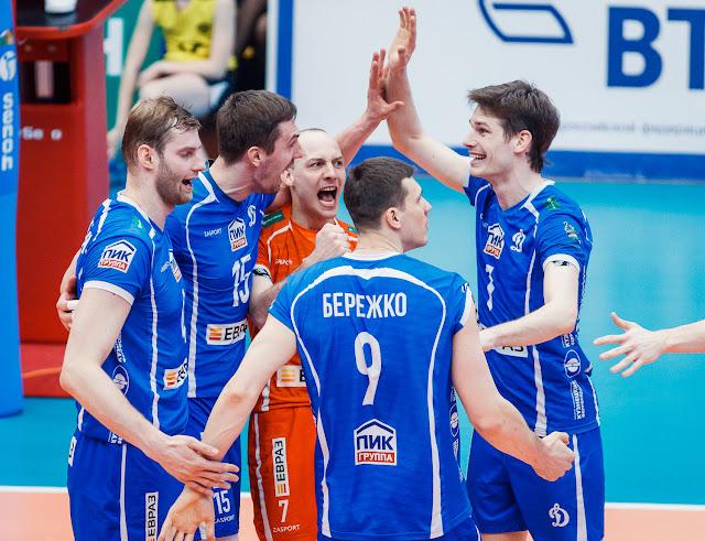 Волейболисты «Динамо» завоевали бронзовые медали чемпионата страны 2018 года