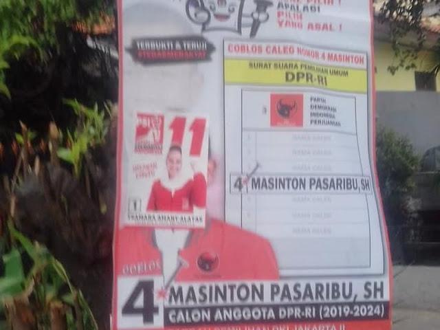 Posternya Ditutup Stiker Caleg PSI, Masinton Peringati PSI
