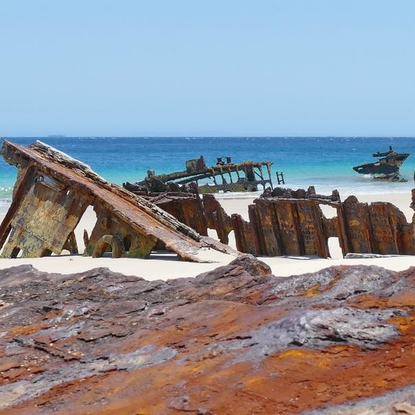 Bulwer Wrecks Moreton Island Wrack Schiffswrack Rost