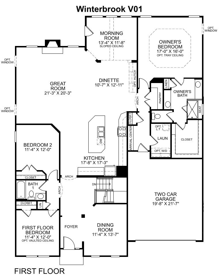 Kitchen Upstairs Floor Plan