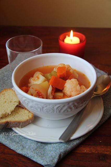 Zuppa di cavolfiore e zucca