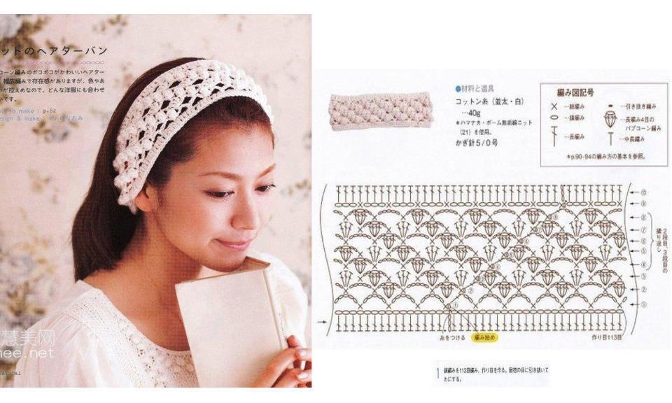 2 Patrones Crochet Diademas,Bandas