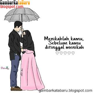 menikahlah kamu sebelum ditinggal menikah (ditinggal rabi ) Gambar DP BBM Kartun Lucu Buat Cewek Terbaru
