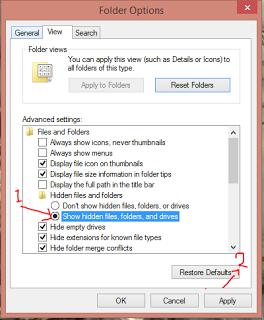 Cara menampilkan Folder yang di hidden
