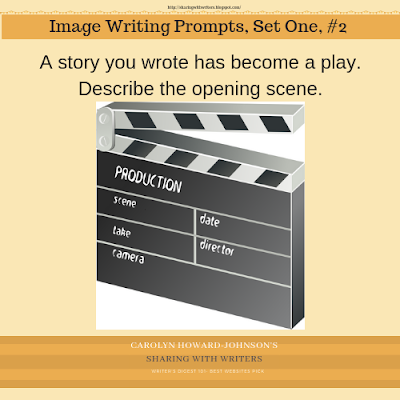 A story you wrote has become a play. Describe the opening scene.