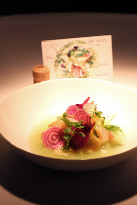 Wilder Ritter Salat mit Rettich und Kohlrabisud