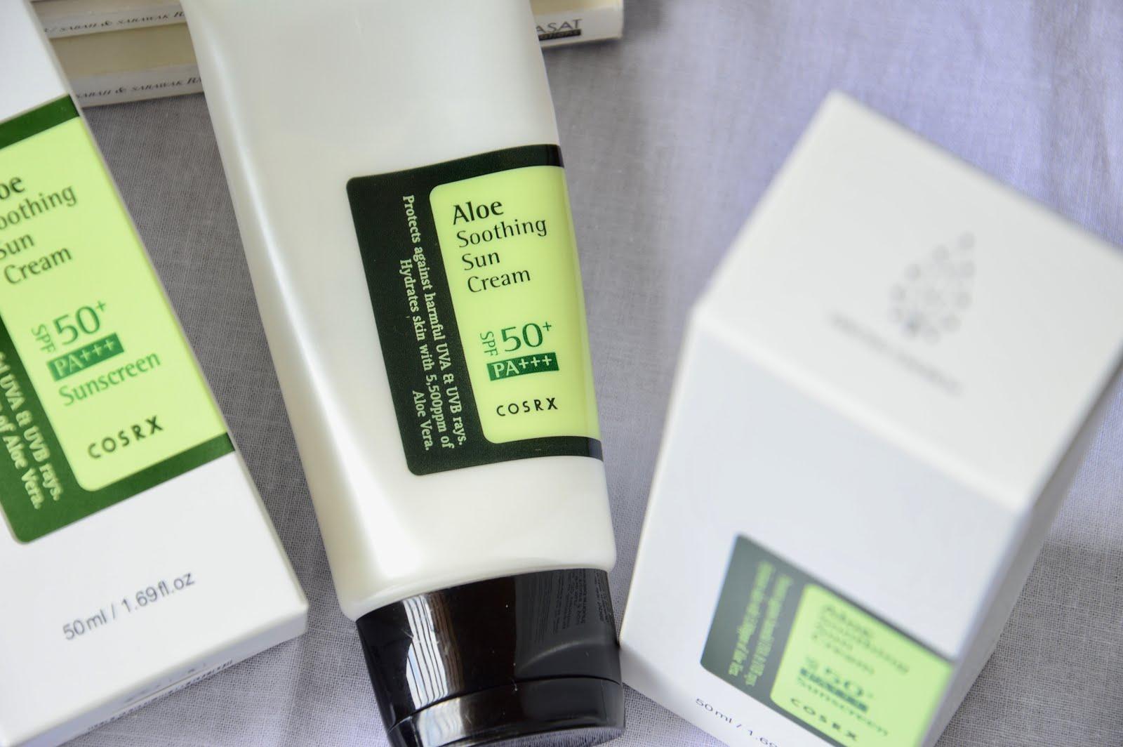 COSRX Aloe Soothing Sun Cream Review