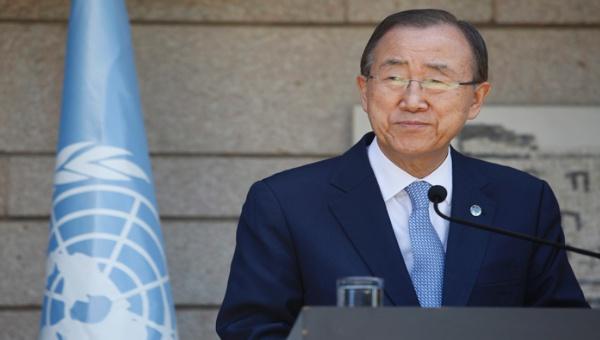 Ki-moon insta a acabar con la ocupación israelí en Palestina