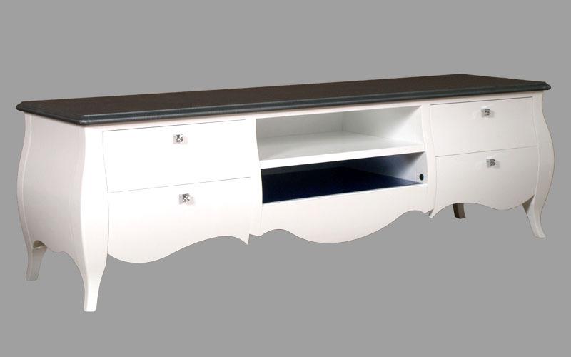 Mobile Tv Moderno Bianco : Mobile porta tv bombato laccato bianco illuminazione led e