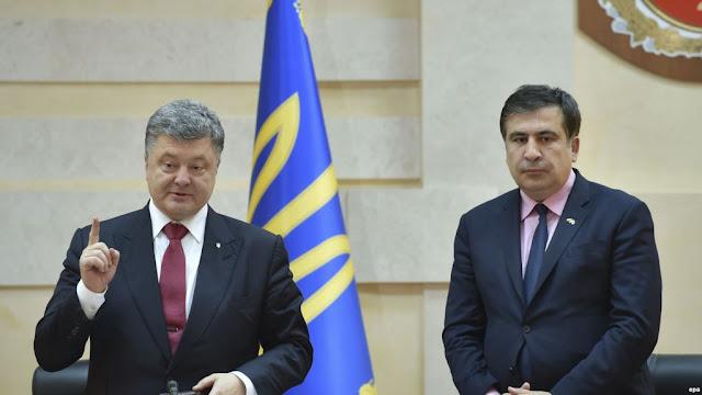 Саакашвили рассказал о планах Порошенко обменять Крым на ЕС и НАТО. Видео