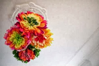 Contoh Kerajinan Tangan, Kreasi Bunga Kertas Pelangi