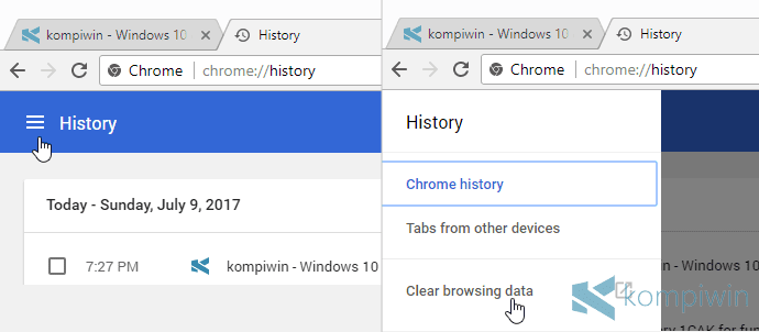 history browsing