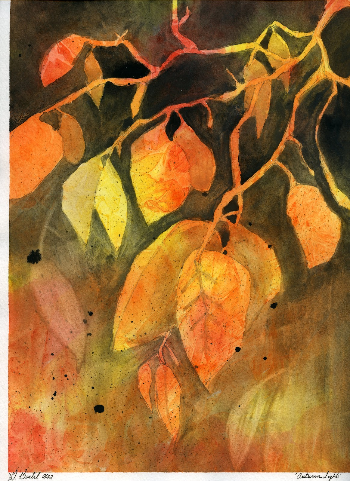that artist woman: How to Paint Abstract Autumn Leaves