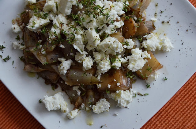 GRIDDLED CHICORY SALAD WITH FETA CHEESE
